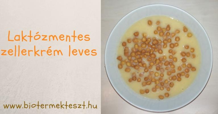 Laktózmentes, tejmentes zellerkrém leves recept