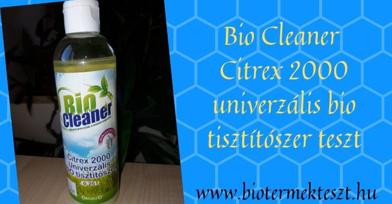 Bio Cleaner Citrex 2000 univerzális bio tisztítószer koncentrátum