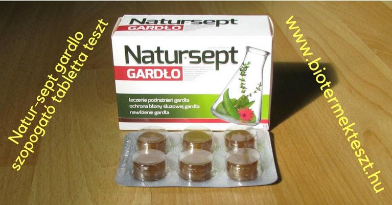 Natur-sept gardlo torokfertőtlenítő szopogató tabletta