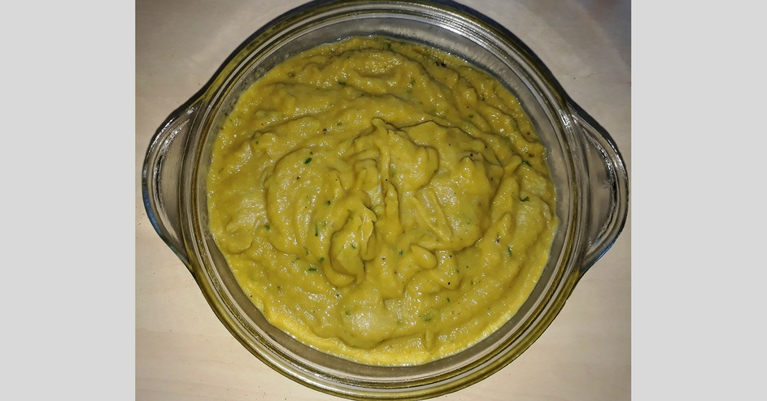 Medvehagymás cukkini krém padlizsánnal recept